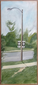 Kalamazoo lamp post , 31 x 13