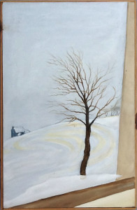 Winter View, Acrylic on canvas, 17 x 27, 1988