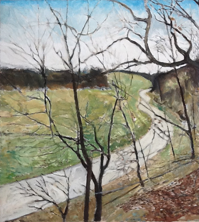 Blue Valley Rd. , 1993, 32 x 36, acrylic on canvas