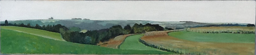 Country Vista , 1992, 48 x 12, acrylic on canvas