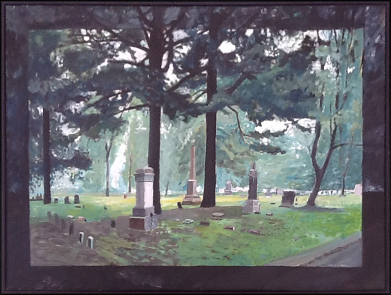 Green Cemetery , 1992, 48 x 36, acrylic on canvas