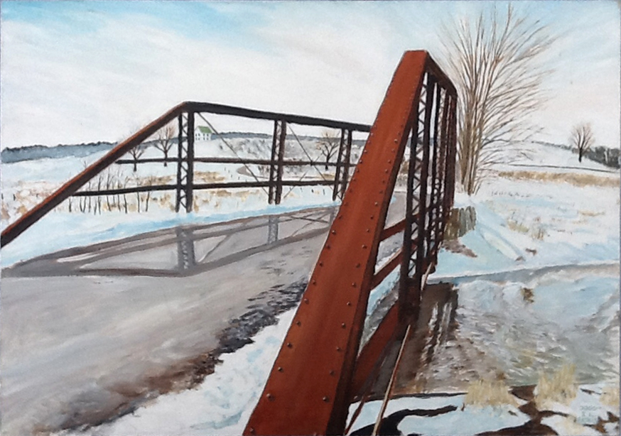 Iron Bridge, 1991, 42 x 30, acrylic on canvas