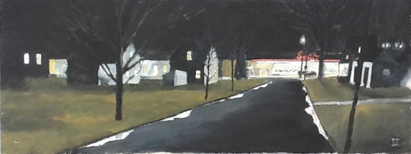 Night Grocery, 1991, 48 x 18, acrylic on canvas