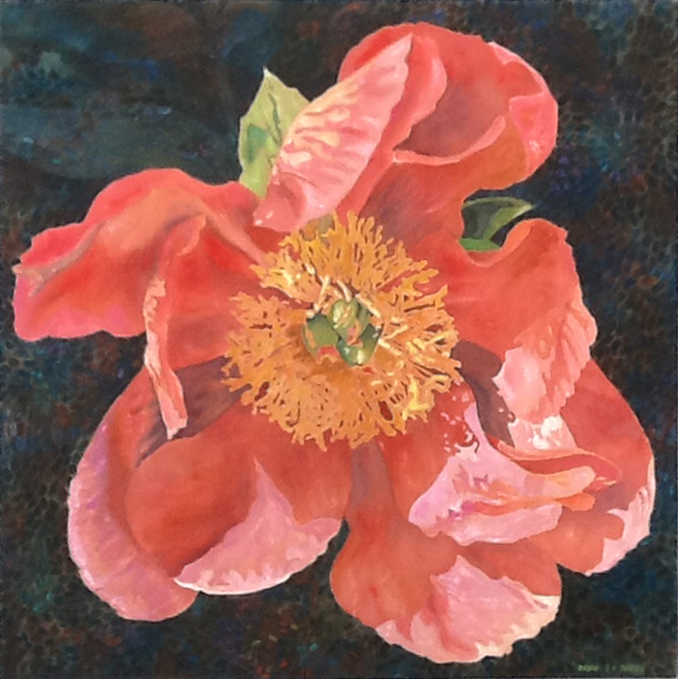 Peony , 1993, 30 x 30, acrylic on canvas