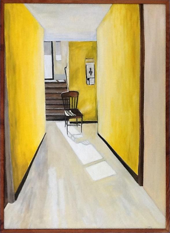 Yellow Hallway , 1989, 36 x 48, acrylic on canvas